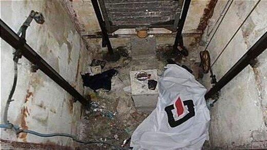 مرگ دلخراش زن جوان بین آسانسور و سقف پارکینگ؛ تصاویر