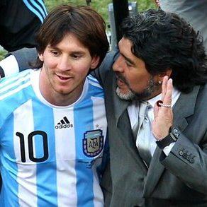 واکنش لیونل مسی به درگذشت مارادونا: او ابدی است/عکس